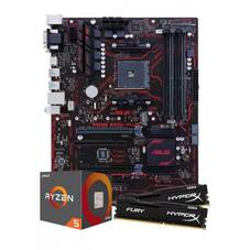 AMD Ryzen 5 1600 CPU with Asus B350-Plus Motherboard and HyperX Fury 8GB RAM