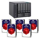 QNAP TVS-951X-8G 9 Bay NAS with 5x WD Red 8TB WD80EFAX NAS HDD (Total 40TB)