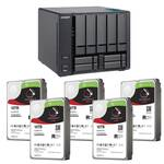 QNAP TVS-951X-8G 9 Bay NAS with 5x Seagate IronWolf Pro 10TB NAS HDD (50TB)