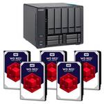 QNAP TVS-951X-2G 9 Bay NAS with 5x WD Red 8TB WD80EFAX NAS HDD (Total 40TB)