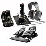 Thrustmaster HOTAS Warthog Controller with Pedals and Headset Bundle