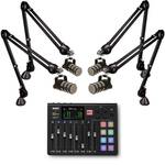 Rode RODECaster Pro Podcast Console with 4x PodMic and 4x PSA1 Boom Arm