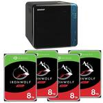 QNAP TS-453Be-2G 4 Bay NAS and 4x 8TB Seagate IronWolf NAS HDD (Total 32TB)