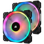 Corsair LL Series LL140 RGB 140mm Fan, 2-pack Fan w/ Lighting Node PRO