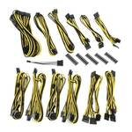 Bitfenix Alchemy 2.0 EVG Modular Cable Kit, Black/Yellow for EVGA PSU