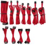 Corsair Premium Sleeved PSU Cable Kit Pro Package, Type 4, Red