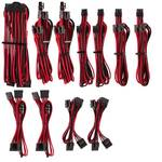 Corsair Premium Sleeved PSU Cable Kit Pro Package, Type 4, Red/Black