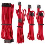 Corsair Premium Sleeved PSU Cables Starter Kit Type 4, Red