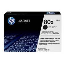 HP 80X High Yield Toner Cartridge, Black