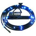 NZXT Black Sleeve Cable Kit with Blue LEDs, 200cm